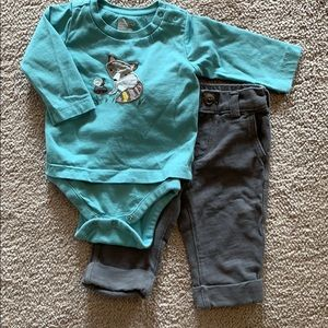 Baby Gap outfit, long sleeve bodysuit and pants